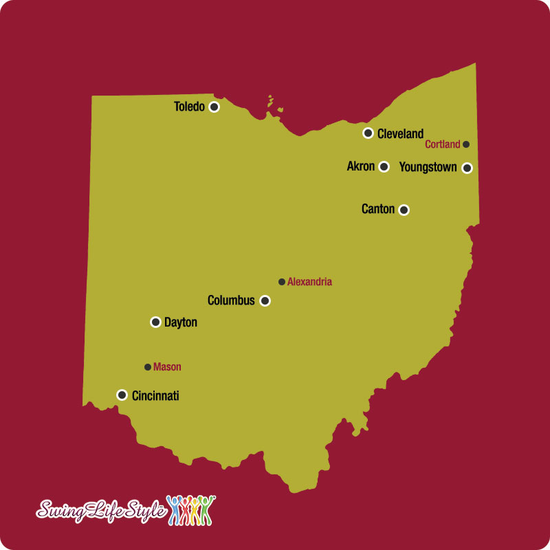 Ohio Swingers Clubs Map